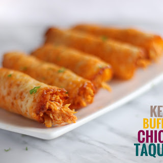 Keto Buffalo Chicken Taquitos.
