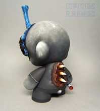 """Photo: """"Romeo 13"""" Custom 7"""" Munny with sculpted mask based on the above Forces of Dorkness mask for Vinyl Thoughts."""