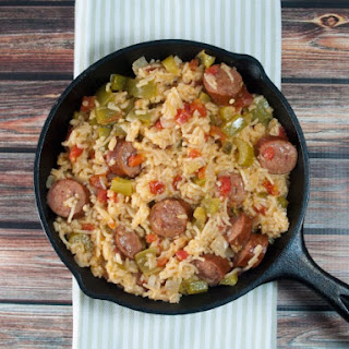 Spanish Rice And Kielbasa Skillet