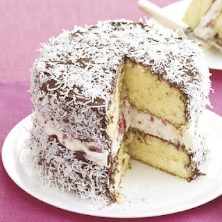Easy Lamington Cake.