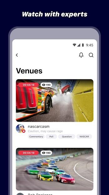 Venue: Companion App to Live Sports