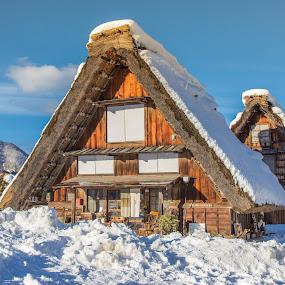 Shirakawa-go by Ryusuke Komori - City,  Street & Park  Historic Districts ( shirakawa, old, japan, village, snow, house, gou )