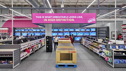 The appliances and gadget section.