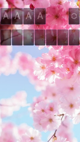Solitaire Pink Blossom Theme Screenshot