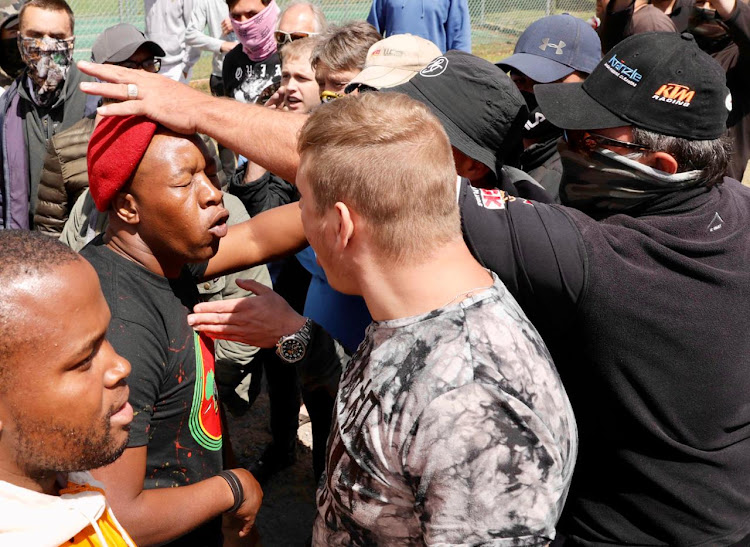 A scene from the violent scuffle outside Brackenfell High School in Cape Town. File photo.