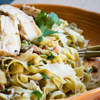 Chicken and Artichoke Fettuccini