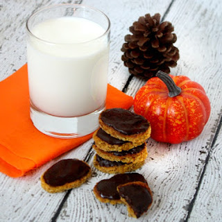 Chocolate Frosted Gluten-Free Pumpkin Cookies (Vegan, Gluten-Free, Dairy-Free, Paleo-Friendly, No Refined Sugar).