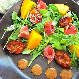 Grilled Fig Salad w/ Roasted Beets & Prosciutto
