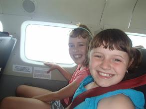 Photo: Girls on the plane to Puerto Jimenez