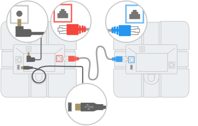 Diagram: connect two speakermics