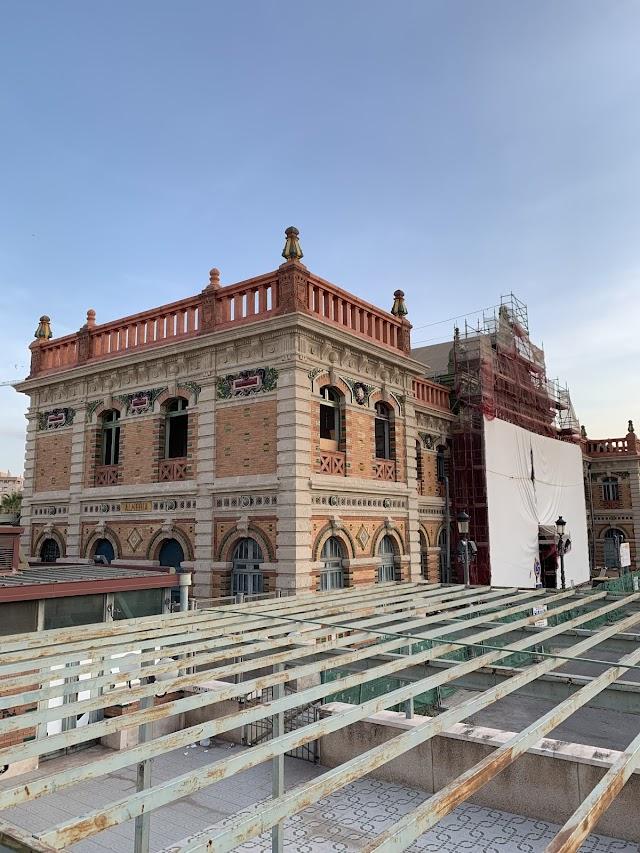 Antigua estación ferroviaria de Almería, en rehabilitación