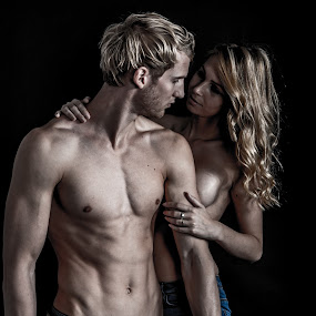 Muscles and love by Ton Hoelaars - People Body Parts