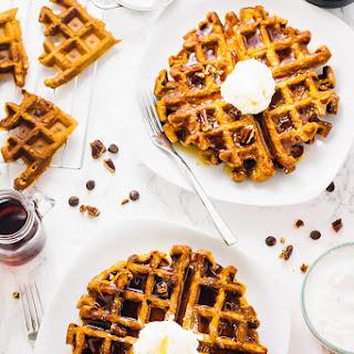 Flourless Vegan Pumpkin Waffles