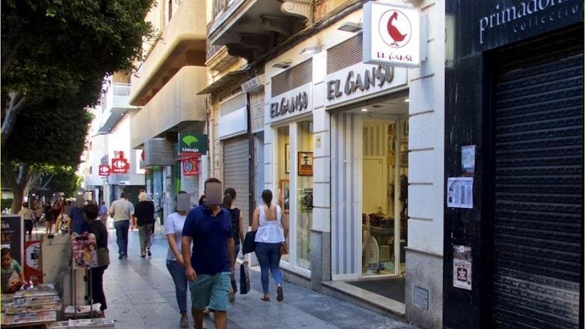El paseo de Almería cuenta con una parte importante de locales en régimen de alquiler.