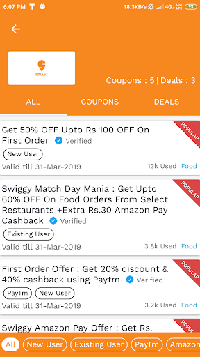 Best Food Offers, Coupons & Promo Code screenshot 5