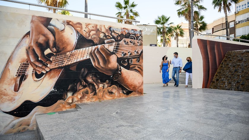 El mural del Anfiteatro de la Rambla.