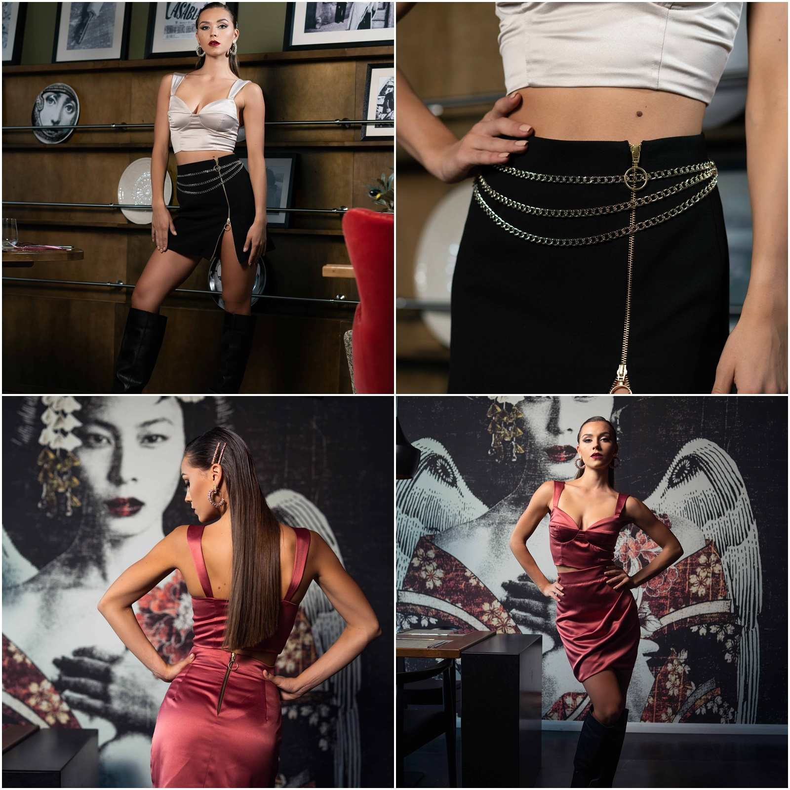 Ефектна къса пола с цип - за дързък, секси и уверен вид