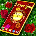 Red Rose 🌹 Diamond Shine Live Wallpaper icon