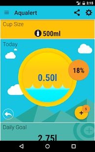 Aqualert:Water Tracker Intake Reminder Google Fit- screenshot thumbnail
