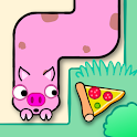 One line - Hungry Animals icon