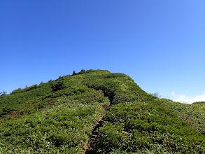 山頂への最後の上り
