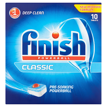 Finish Powerball Dishwasher Cleaning Tablets - Classic, Deep Clean, 10 Tablets