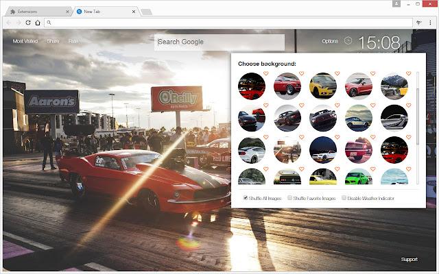 Ford mustang wallpaper hd cars new tab themes chrome web - Chrome web store wallpaper ...