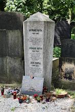 Photo: Grave of Franz Kafka in New Jewish Cemetery.