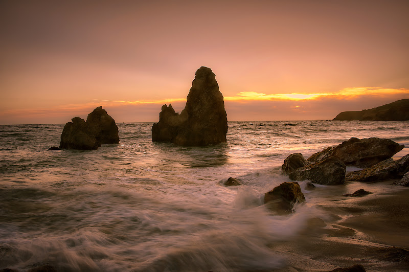 Photo: At days end, you can either get washed away or you can stand tall.  During my last visit to San Francisco, one of the first things I did once I arrived in the city was go to Rodeo Beach to enjoy the sunset with some friends and fellow photographers. This was also the day of the solar eclipse so we were hoping for something interesting to happen with the light. It was becoming very cold due to the strong winds, but the day and scene were quite beautiful so it was easy to stay out there and stand in the wind. Once the peak of the solar eclipse had come and gone, we moved our attention back to the water and the setting sun. It was a beautiful scene and it served as another reminder as to why I love California so much!  On a side note, I decided to give +Trey Ratcliff's new Lightroom presets a try on this one. I had already processed this shot but figured it would be fun to apply a new look to it. There are a ton of presets to choose from so if you're interested check 'em out on his site: http://www.stuckincustoms.com/lightroom-presets/ and if you want to see what this shot looked like before the preset was applied, you can find it on my blog here: http://www.themarkeworld.com/san-francisco/rodeo-sunset/   Now, onto #ThirstyThursdayPics ! I'm pretty sure that you guys know the drill by now because all of the contributions so far have been simply amazing. Which is consistent with each and every Thursday that swims by. So keep the contributions coming and don't forget to use the hashtag and to tag our good captain +Giuseppe Basile in your posts. ;-)