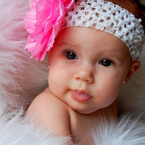 4 month baby pic by Bridgette Miller - Babies & Children Babies ( 4month old. big bow, princess, baby )