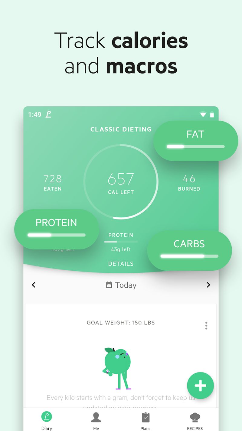 Lifesum - Diet Plan, Macro Calculator & Food Diary Screenshot 1