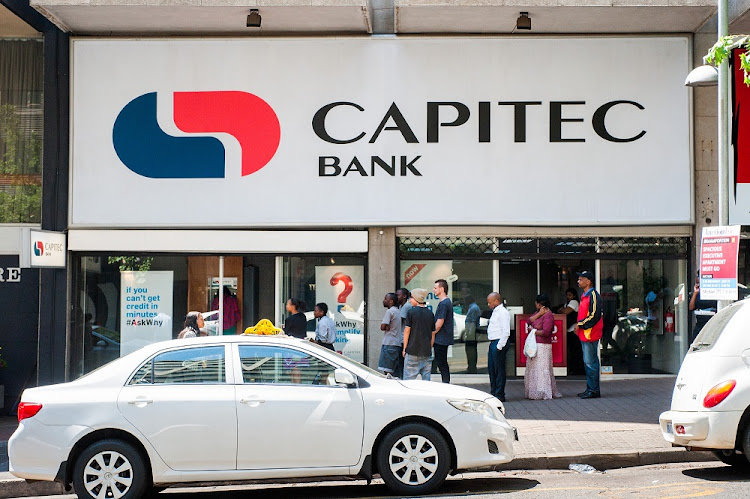 July 18, 2014. Capitec Bank in Braamfontein, Johannesburg.