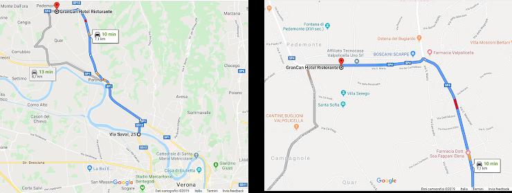 Vedi la Mappa per arrivare al Ristorante che si trova sulla vecchia SS 12, Localitá Pedemonte.