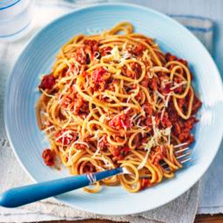 Spaghetti Bolognese with hidden veggies.