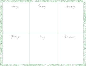 Weeks Plans - Weekly Planner template