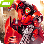 Bots Car Driving : Transform War Fighting Game 3D Icon
