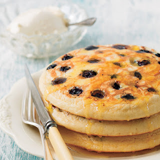 Blueberry Pancakes And Spiced Orange Syrup