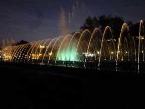 Photo: On our way home, we biked past this fountain