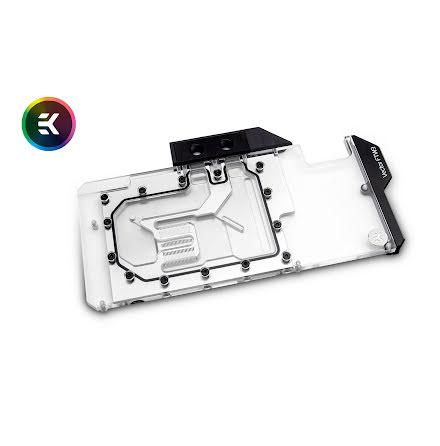 EK vannblokk for skjermkort, EK-Vector FTW3 RTX 2080 RGB - Plexi + Nickel
