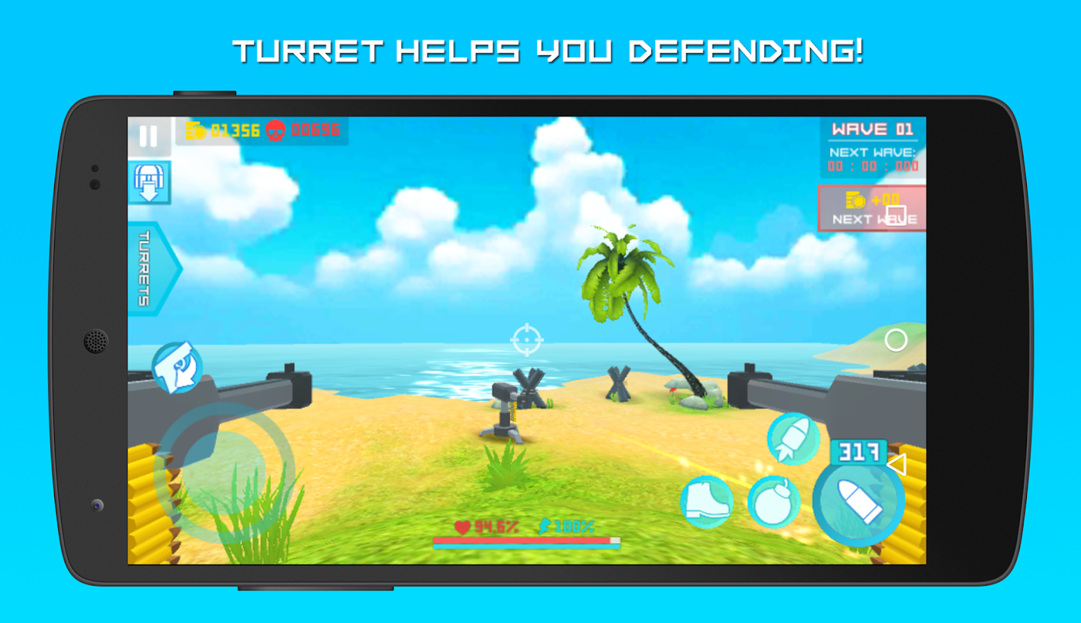 Beachhead Defender: Free Shooting Games (FPS)- screenshot