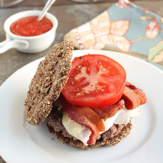 Low Carb Flax & Parmesan Burger Buns (Gluten Free).
