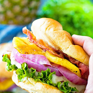 Grilled Pineapple Teriyaki Chicken Burger Recipe