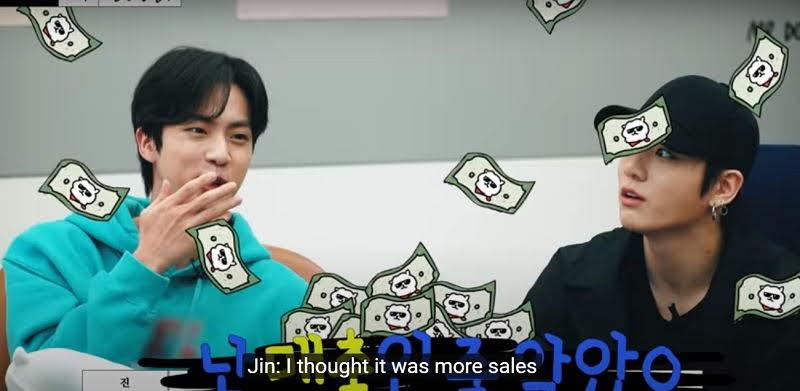 BTS's Money Minded Brains Jin and Suga making Dark Version of BT21
