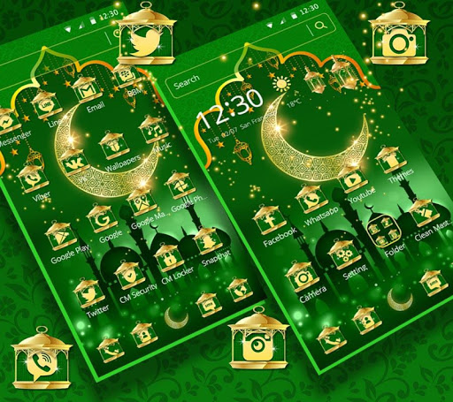 Green Moon Star Ramadan Theme 1.1.6 screenshots 3