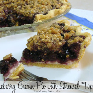 Blueberry Cream Pie with Streusel Topping Recipe