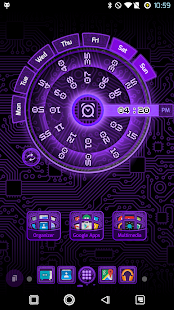 PCB Purple ⁞ TSF Shell 3 Theme- screenshot thumbnail