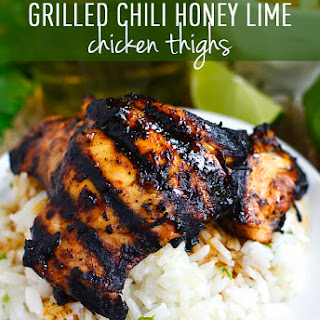 Grilled Honey Chili Lime Chicken Thighs