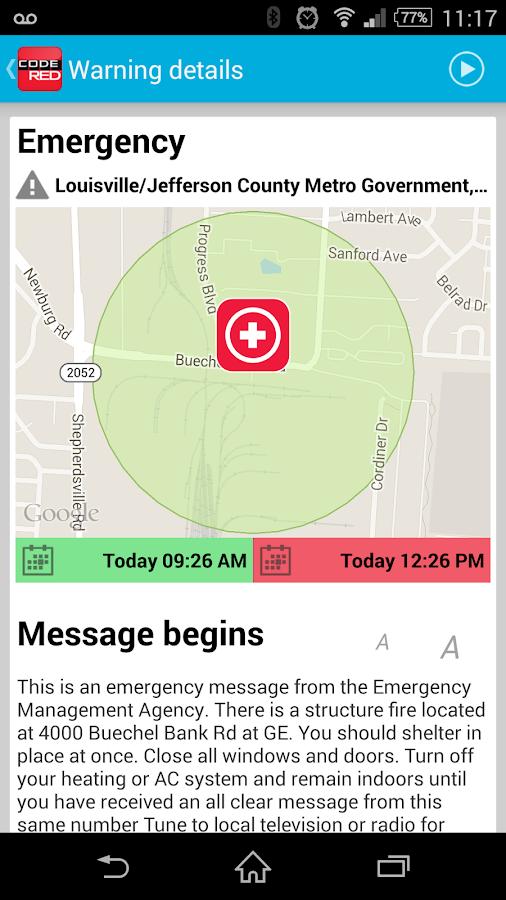 CodeRED Mobile Alert- screenshot