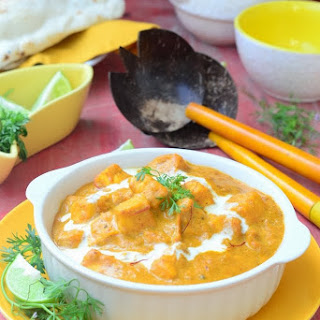Shahi Paneer / Indian Cottage Cheese Cooked in a Rich Creamy Gravy