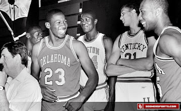 Photo: Wayman Tisdale in a 1984 preseason All-America shoot with Michael Jordan (North Carolina), Hakeem Olajuwon (Houston), Sam Bowie (Kentucky) and Vern Fleming (Georgia).